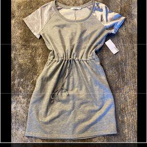 NWT Just Fab sweatshirt dress drawstring XL
